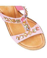 Lotus - Purple Loretta Wedge Sandals - Lyst