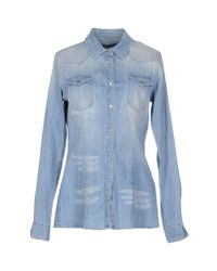 Dondup - Blue Denim Shirt - Lyst