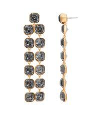 Henri Bendel - Black Windsor Geo Chandelier Earrings - Lyst