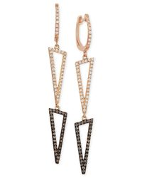 Le Vian | Pink Neo Geo By Diamond (5/8 Ct. T.w.) Drop Earrings In 14k Rose Gold | Lyst