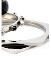 Iosselliani | Black 'metal Instinct' Set Of Bangles | Lyst