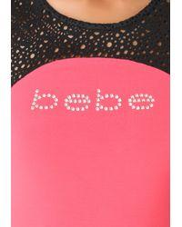 Bebe - Black Petite Logo Maxi Dress - Lyst