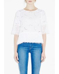 M.i.h Jeans - White Phlox Top - Lyst