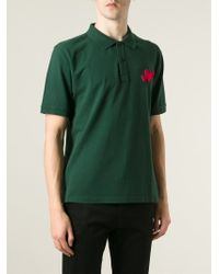 AMI - Green Heartbreaker Polo Shirt for Men - Lyst