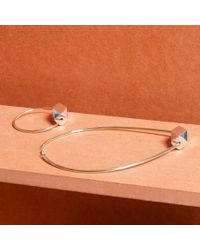 Paul Smith | Metallic Women's Silver Bracelet With Gold Facet Bead | Lyst