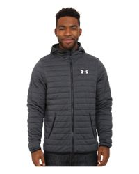 Under Armour - Black Ua Quilted Full-zip Hoodie for Men - Lyst