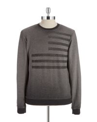 William Rast | Gray French Terry Pullover for Men | Lyst