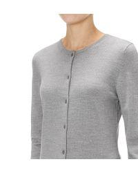 Sunspel - Gray Women's Fine Merino Cardigan - Lyst