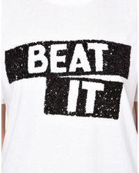 Markus Lupfer | White Beat It Sequin Alex T-Shirt | Lyst