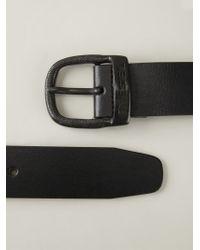 DIESEL - Black 'Bawre' Belt for Men - Lyst