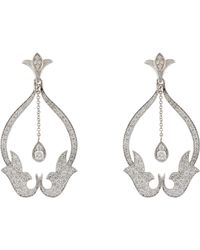 Sara Weinstock | Gray Women's French Tulip Drop Earrings | Lyst