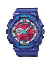 G-Shock | Women's Analog-digital Blue Resin Strap Watch 49x46mm Gmas110hc-2a | Lyst