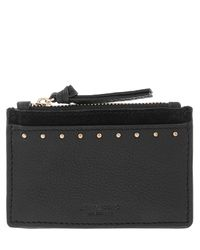 Accessorize - Black Ferne Studded Leather Travelcard Holder - Lyst