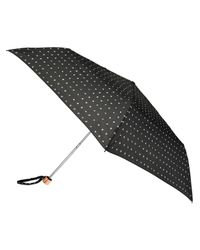 Accessorize - Black Spotty Dotty Superslim Umbrella - Lyst