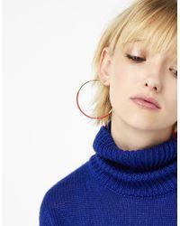 Accessorize - Red Enamel Hoop Earrings - Lyst