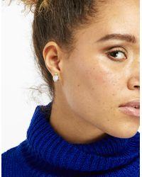Accessorize - Blue Santorini Semi Precious Stud Earrings - Lyst