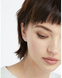 Accessorize - Metallic Sterling Silver 3x Romantic Stud Earrings Set - Lyst