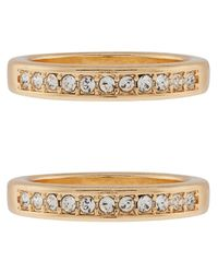 Accessorize - Metallic 2x Stacking Rings With Swarovski® Crystals - Lyst
