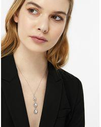 Accessorize - Metallic Triple Sparkle Teardrop Pendant Necklace - Lyst