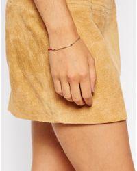 ASOS | Metallic Fine Bar Bracelet | Lyst