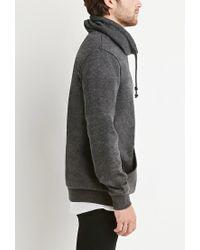 Forever 21 - Gray Heathered Funnel Neck Sweatshirt for Men - Lyst