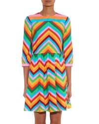 Valentino - Pink 1973 Rainbow Silk Dress - Lyst