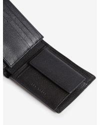 Ted Baker | Black Metal Corner Leather Wallet And Cardholder for Men | Lyst