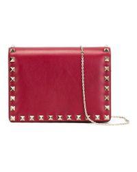 Valentino - Red 'rockstud' Crossbody Bag - Lyst