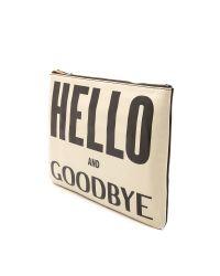 Karen Walker - Hello Goodbye Clutch Creamblack - Lyst