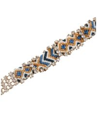 Mango   Blue Friendship Bracelet with Diamantes   Lyst
