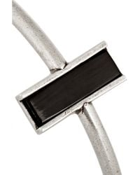 Isabel Marant - Black Silver-tone Horn Bracelet - Lyst