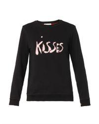 Bella Freud | Black Kisses-Print Cotton Sweatshirt | Lyst
