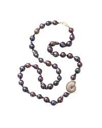 Jordan Alexander - Blue Navy Baroque Pearl Necklace - Lyst