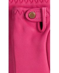 Burberry - Purple Cashmere-lined Lambskin Gloves - Lyst
