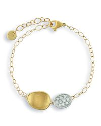 Marco Bicego - Metallic Lunaria Two-pendant Diamond Bracelet - Lyst