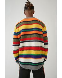 Acne Blue Striped Sweater navy for men