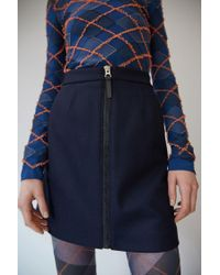 Acne - Blue Suraya Flannel navy - Lyst