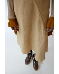 Acne - Tinne Shearling dark Brown - Lyst