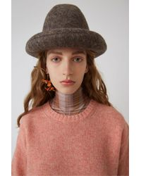 Acne - Samara Wool Peach Orange Basic Sweater - Lyst