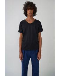 Acne - Scoop Neck T-shirt black for Men - Lyst