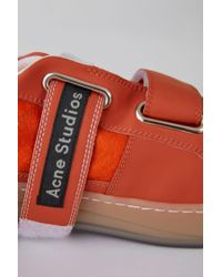 Acne - Velcro Sneakers bright Orange/white - Lyst