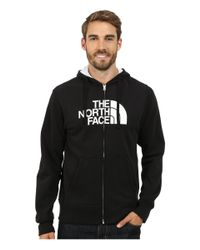 The North Face   Black Half Dome Full Zip Hoodie for Men   Lyst