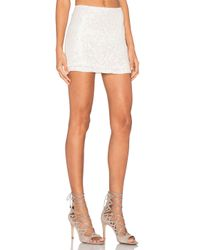MLV - White Justin Sequin Mini Skirt - Lyst
