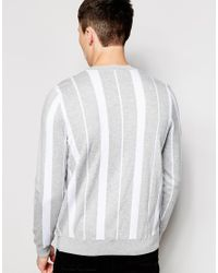 Lacoste L!ive | Gray Jumper With Stripe for Men | Lyst