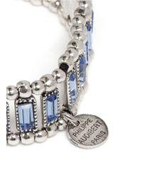 Philippe Audibert | Blue Trenty Erinite Crystal Embellished Elasticated Bracelet | Lyst