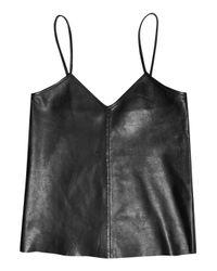Iris & Ink | Black Ava Leather Top | Lyst