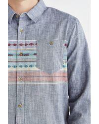 Vans - Blue Sur Long-Sleeve Button-Down Shirt for Men - Lyst