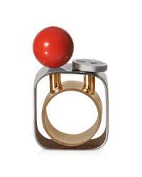 Roger Vivier | Red Tektronic Ring | Lyst