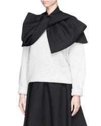 Marc By Marc Jacobs - Black Twist Front Wool Blend Twill Cape - Lyst