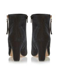 Dune - Black Ninety Tassel Block Heel Ankle Boot - Lyst